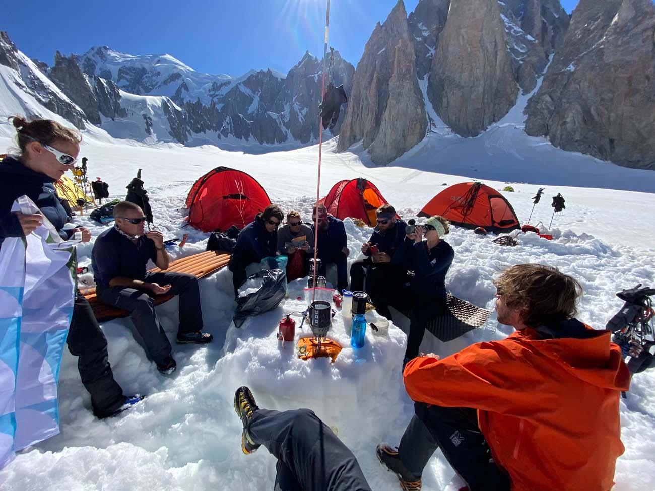 Camping op de gletsjer