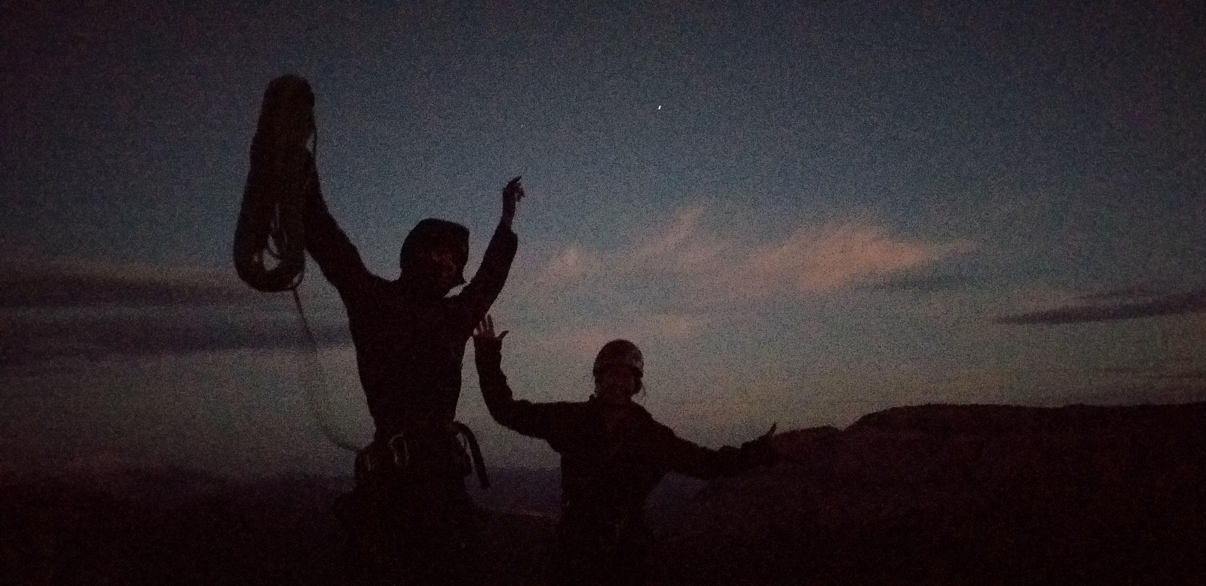Pilier Livanos - Ellen en Brecht net boven voor het donker